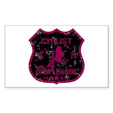 Cyclist Diva League Rectangle Decal
