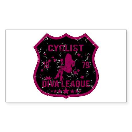 Cyclist Diva League Rectangle Sticker