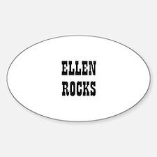 ELLEN ROCKS Oval Decal