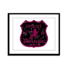 Cyclist Diva League Framed Panel Print