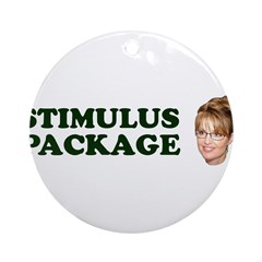 Stimulus Package Ornament (Round)