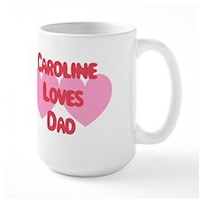 Caroline Loves Dad Mug