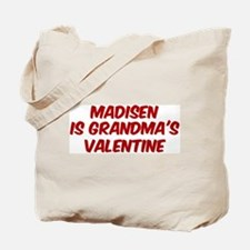Madisens is grandmas valentin Tote Bag