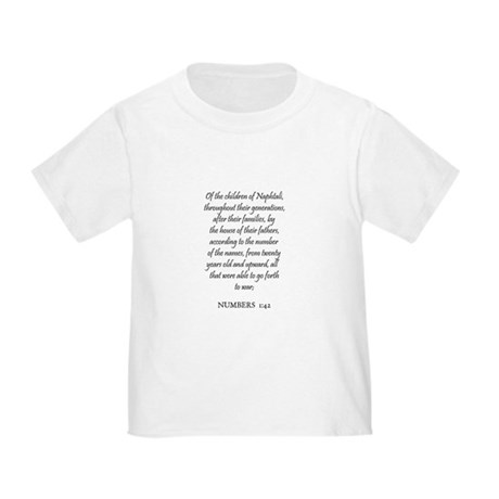 NUMBERS 1:42 Toddler T-Shirt