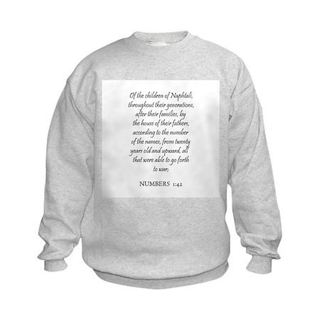 NUMBERS 1:42 Kids Sweatshirt
