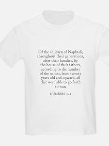 NUMBERS  1:42 Kids T-Shirt