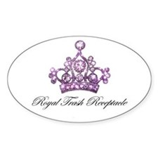 """Royal Trash Receptacle"" Oval Decal"