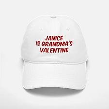 Janices is grandmas valentine Baseball Baseball Cap