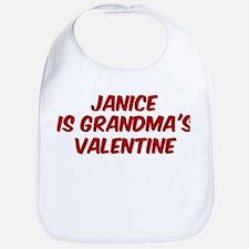 Janices is grandmas valentine Bib
