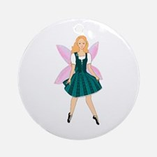Highland dance fairy Ornament (Round)