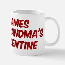 Jamess is grandmas valentine Mug