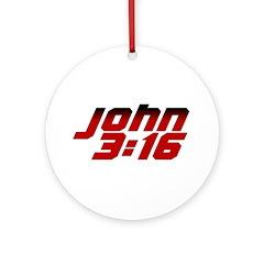 John 3:16 Christian Ornament (Round)