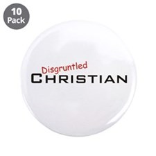 "Disgruntled Christian 3.5"" Button (10 pack)"