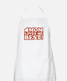 Mom Loves Me Best BBQ Apron