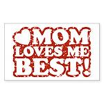 Mom Loves Me Best Rectangle Sticker 10 pk)