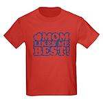 Mom Loves Me Best Kids Dark T-Shirt