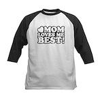 Mom Loves Me Best Kids Baseball Jersey