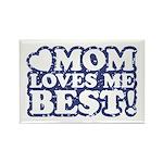 Mom Loves Me Best Rectangle Magnet
