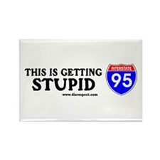 This is Getting Stupid I-95 Rectangle Magnet