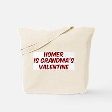Homers is grandmas valentine Tote Bag