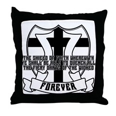 Shield of Faith Throw Pillow