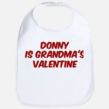 Donnys is grandmas valentine Bib
