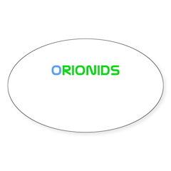 Orinoids Meteor Shower Oval Sticker (10 pk)