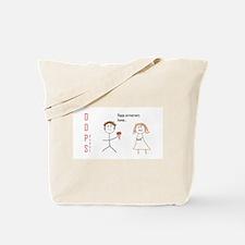Funny Oops Tote Bag