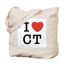I Heart CT Tote Bag