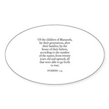NUMBERS 1:34 Oval Decal