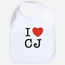 I Heart CJ Bib