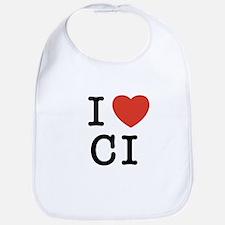 I Heart CI Bib