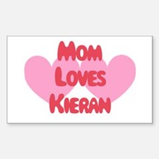 Mom Loves Kieran Rectangle Decal