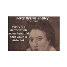 Romantic Poet Percy Shelley Rectangle Magnet