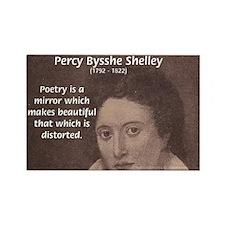 Romantic Poet Percy Shelley Rectangle Magnet (10 p