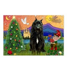 Bouvier Christmas Fantasy Postcards (Package of 8)