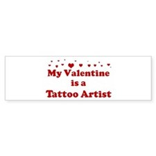 Valentine: Tattoo Artist Bumper Car Sticker
