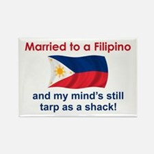 Married To A Filipino Rectangle Magnet