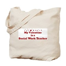 Valentine: Social Work Teache Tote Bag