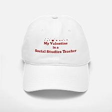 Valentine: Social Studies Tea Baseball Baseball Cap