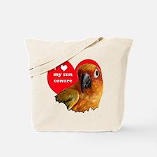 sun conure love Tote Bag