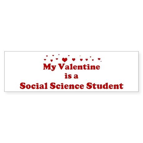 Valentine: Social Science Stu Bumper Sticker
