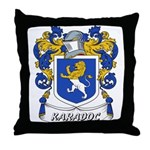 Karadoc Coat of Arms Throw Pillow