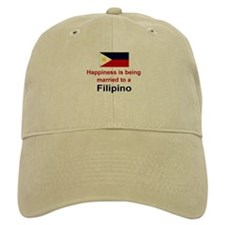Happily Married To A Filipino Baseball Cap