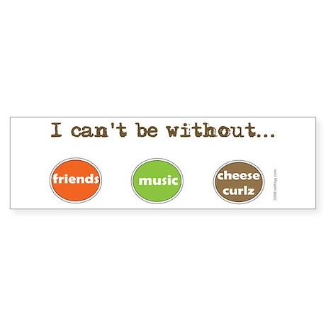 Friends Music Cheese Curls Bumper Sticker (Oval)