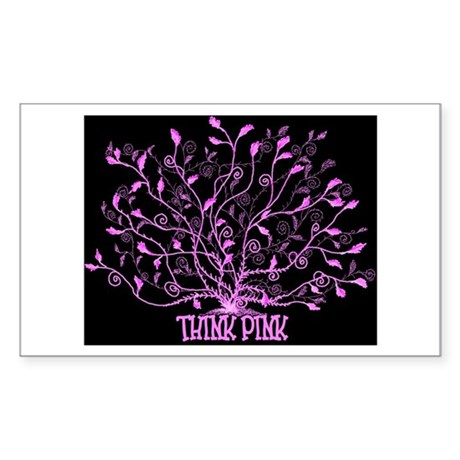 Think Pink Lovely Rectangle Sticker