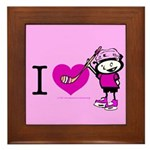 I heart Nancy Boys Framed Tile