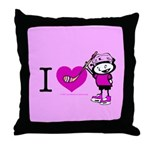 I heart Nancy Boys Throw Pillow