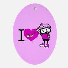 I heart Nancy Boys Oval Ornament
