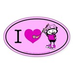 I heart Nancy Boys Oval Sticker